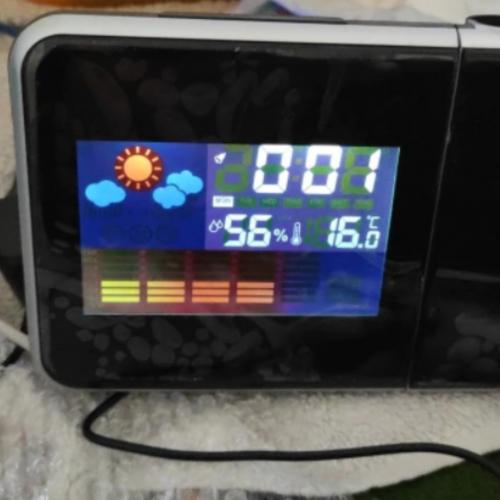 Projekcijska LCD ura z vremensko postajo photo review