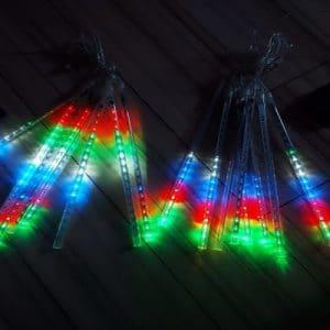 LED barvni meteorji Snowfall photo review