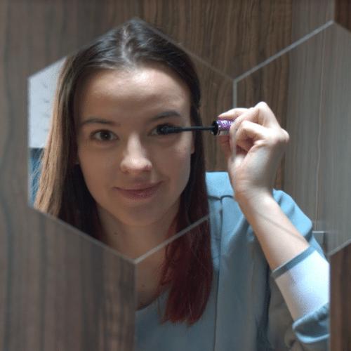 Šestkotne zrcalne stenske nalepke (6 kosov) photo review