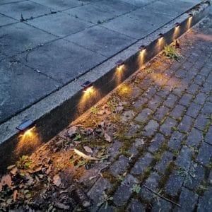 Zunanje solarne LED luči (4 kosi) photo review